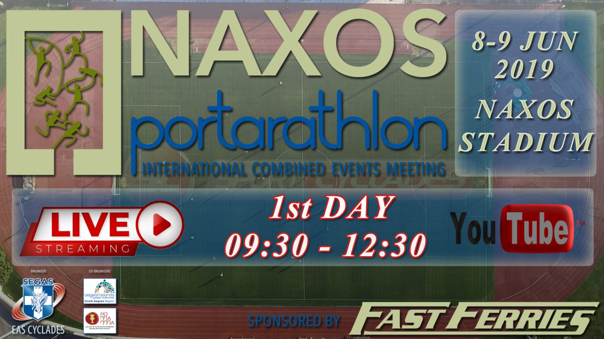 Live stream ''PORTARATHLON 2019''  [1st day 09.30-12.30]