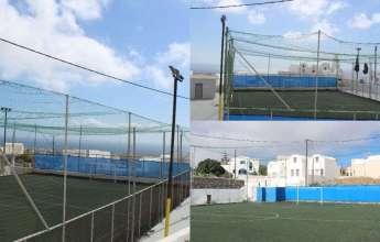 Σαντορίνη: Αποκαταστάθηκαν οι ζημιές στο γήπεδο 5χ5 του Βόθωνα