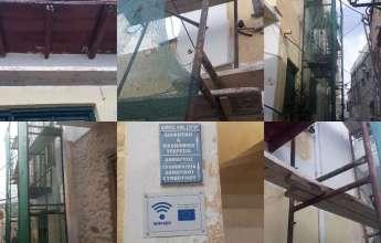 Εργασίες συντήρησης στο ιστορικό κτήριο του πρώην Δημαρχείου Άνω Σύρου
